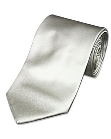 Solid Light Grey Extra-Long Tie - Forzieri