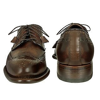 chaussures oxford fait main en cuir marron forzieri 42 eu sur forzieri. Black Bedroom Furniture Sets. Home Design Ideas