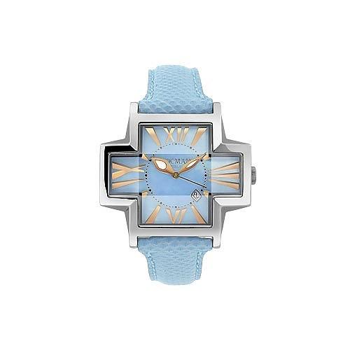 locman modische armbanduhr in kreuzform in himmelblau forzieri. Black Bedroom Furniture Sets. Home Design Ideas