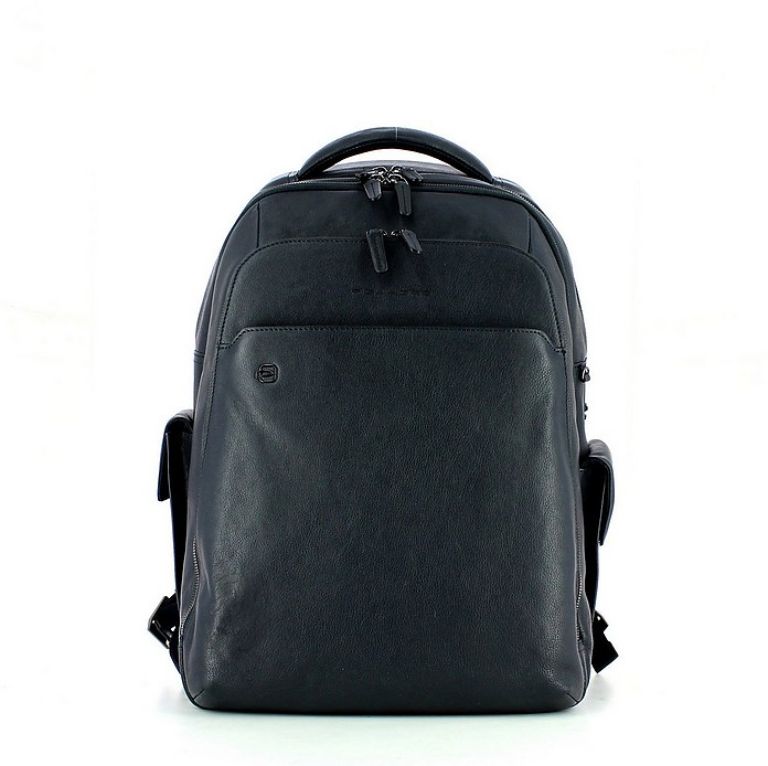 Men's Blue Backpack - Piquadro