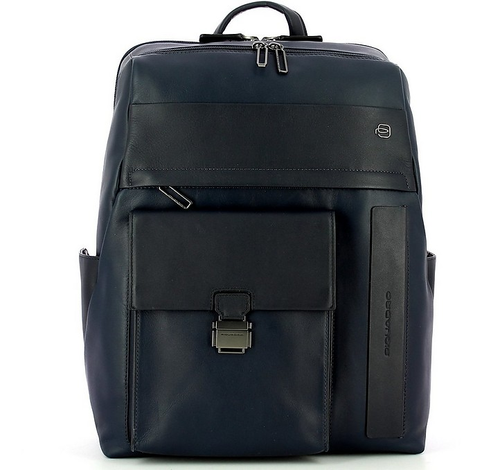 Men's Blue Backpack - Piquadro