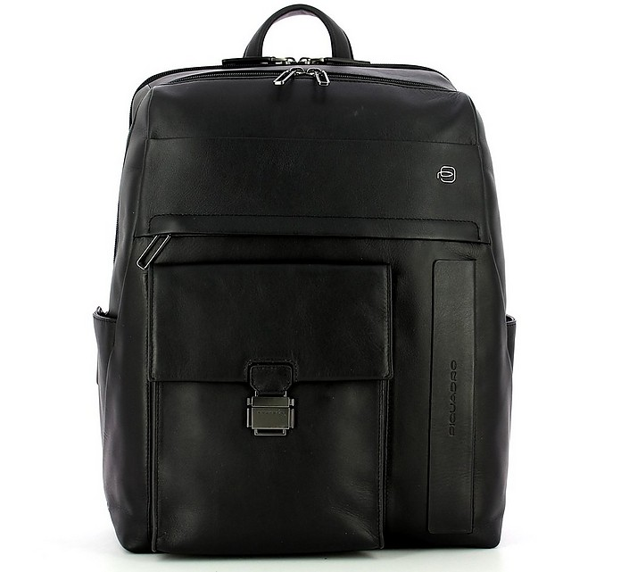 Men's Black Backpack - Piquadro