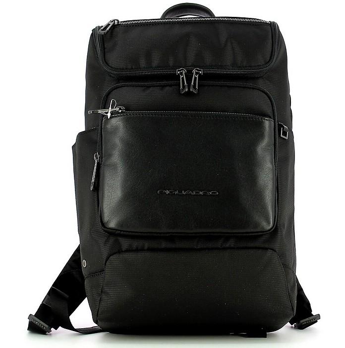 Men's Black Backpack - Piquadro / ピクアドロ