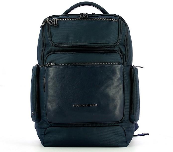 Men's Blue Backpack - Piquadro / ピクアドロ