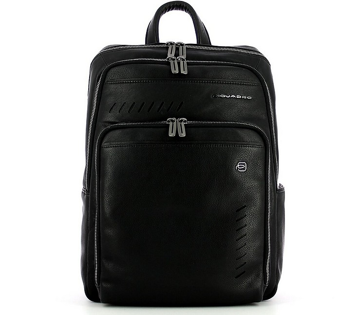 Men's Black Backpack - Piquadro / ピクアドロ