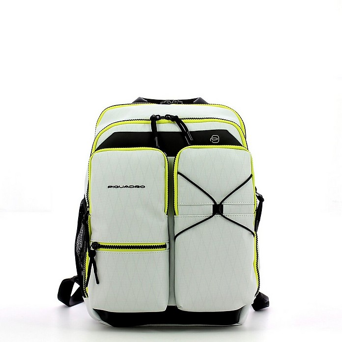 Men's White Backpack - Piquadro / ピクアドロ