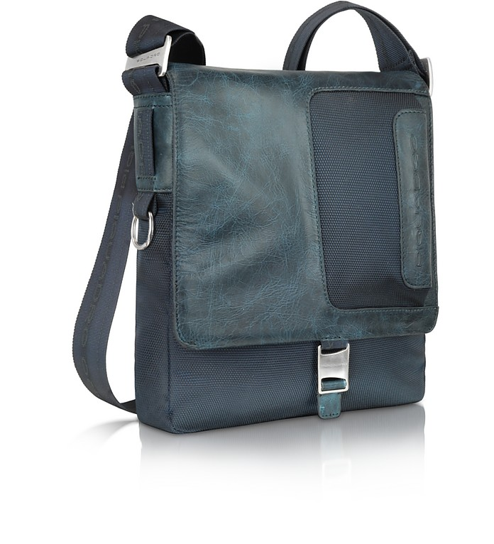 Frame - Nylon and Leather Messenger Bag - Piquadro