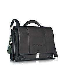 "Link - Slim 15"" Laptop Expandable Messenger Bag - Piquadro"
