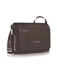 "Link - 15"" Laptop Messenger Bag - Piquadro"