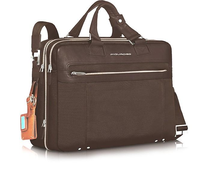 Link - Vergrösserbare Laptoptasche mit zwei Henkeln - Piquadro