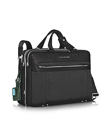 """Link - Double Handle 15"""" Laptop Expandable Case - Piquadro"""