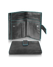 Blue Square - Women's Leather Card Holder & ID Wallet - Piquadro