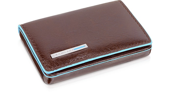 Square Leather Card Case - Piquadro