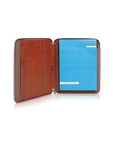 Blue Square - Zip Around Slim Notepad Leather Holder - Piquadro