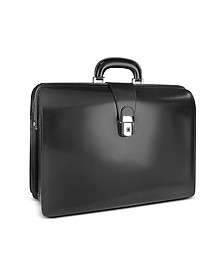 Men's Leather Doctor Bag Briefcase w/Interior Lighting - Pratesi