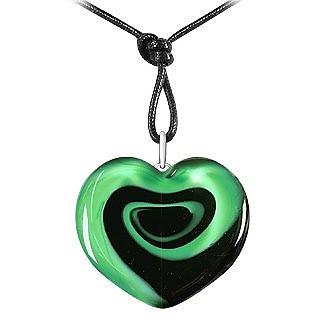 Swirling Heart Murano Glass Necklace - Akuamarina