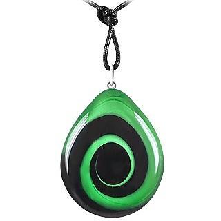 Swirling Drop Murano Glass Necklace - Akuamarina