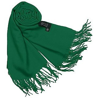 Fringed Solid Wool And Cashmere Pashmina Shawl - Basile