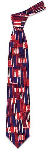 Abstract Pattern Silk Tie - Forzieri