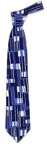 Abstract Pattern Silk Tie - Forzieri