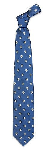 Gold Line - Cravate soie tissée Fleurs de Lys florentines - Forzieri