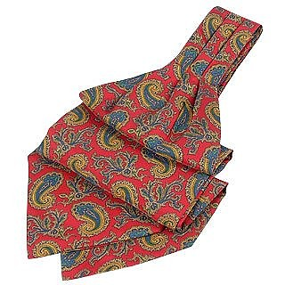 Ornamental Paisley Design Pure Silk Ascot - Forzieri
