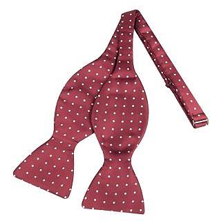 Polkdot Silk Self-tie Bowtie - Forzieri