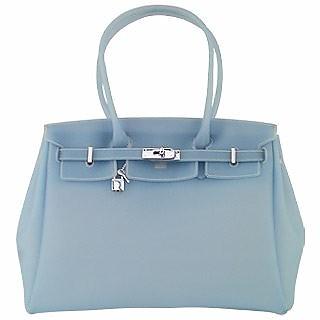 8c663fa6f7 Forzieri Powder Blue Italian Classic Style Jelly Bag at FORZIERI