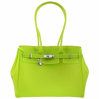 09204336af Forzieri Lime Italian Classic Style Jelly Bag at FORZIERI