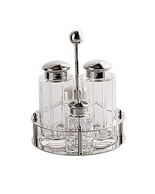 4-Piece Stainless Steel Condiment Set - Alessi