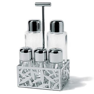 CACTUS! - Pierced Stainless Steel Condiment Set - Alessi