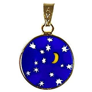 Antica Murrina Moon & Stars - Murano Glass Round Pendant ...
