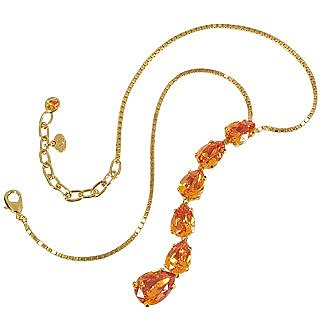 Tangerine Crystal Necklace  - AZ Collection