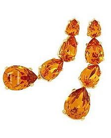 Tangerine Dangle Earrings  - AZ Collection