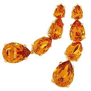 Tangerine Dangle Earrings  - AZ Collection