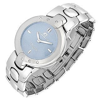 Psyche - Women's Baby Blue Dial Crystal and Stainless Steel Watch - Dom Baiz