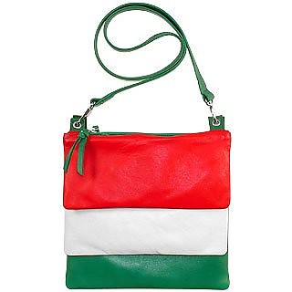 Italian Flag - Triple Envelope Shoulder Bag - Fontanelli
