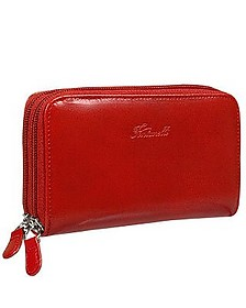 Calf Leather Wallet with double zip - Fontanelli