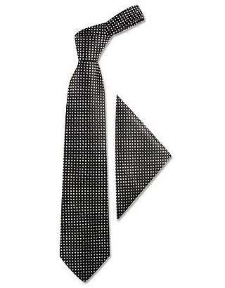 Krawatte & Einstecktuch aus Seide mit Tupfen - Forzieri