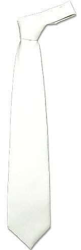 Однотонный Белый Шелковый Галстук - Forzieri