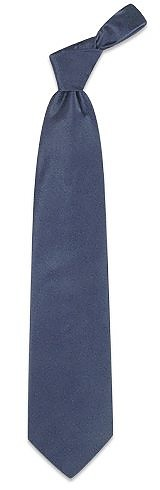 Dark Blue Solid Smooth Silk Tie - Forzieri