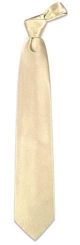 Cravate unie Ivoire soie douce - Forzieri