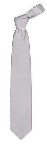 Однотонный Серебристый  Шелковый Галстук - Forzieri