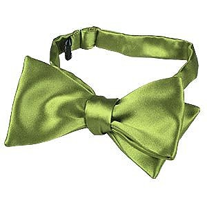 Light Green Solid Silk Self-tie  Bowtie - Forzieri