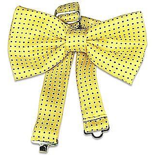 Yellow Polkadot Pre-tied Bowtie  - Forzieri