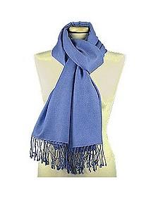 Ozeanblauer Schal aus Pashmina & Seide - Forzieri