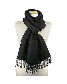 Black Pashmina & Silk Shawl - Forzieri