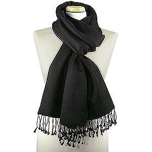 黑色羊绒围巾 - Forzieri 福喜利