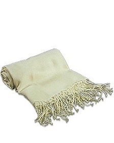 Pale Yellow Pashmina Shawl - Forzieri