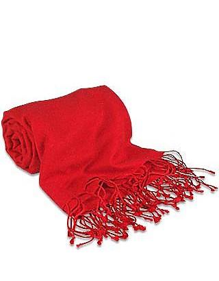 Red Pashmina & Silk Shawl - Forzieri
